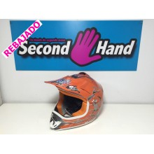 CASCO CROSS NARANJA TALLA L